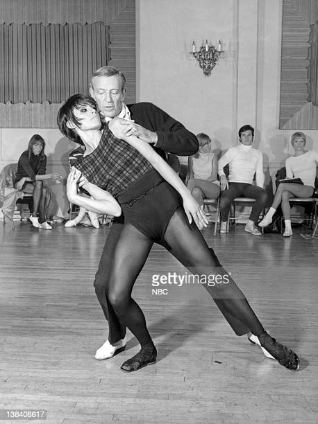 Fred Astaire Barrie Chase during rehearsal for 'The Fred Astaire Show'
