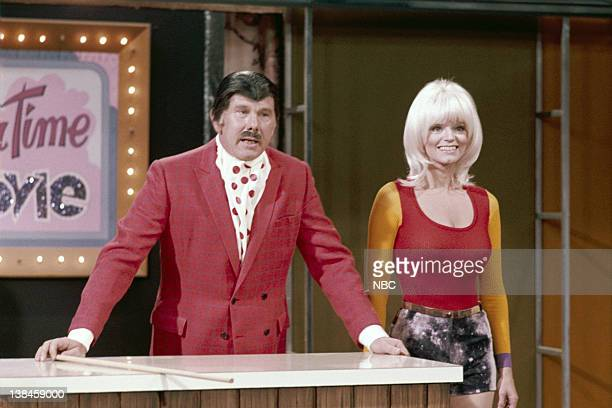 CARSON Air Date Pictured Host Johnny Carson actress Carol Wayne during a skit on February 14 1972