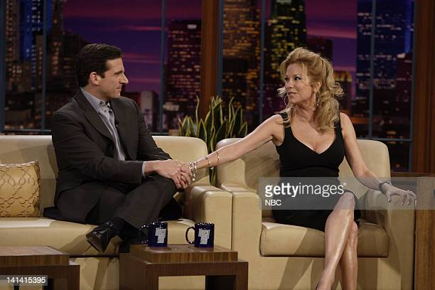 LENO Air Date Episode 3527 Pictured Actor Steve Carell Talkshow host Kathie Lee Gifford during an interview on April 2 2008 Photo by Paul...