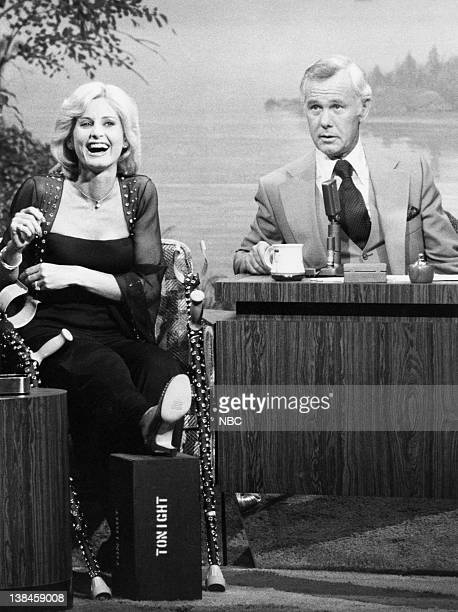CARSON Air Date Pictured Actress Jill Ireland during an interview with host Johnny Carson on April 27 1977