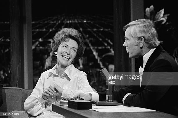 CARSON Air Date Pictured First Lady of California Nancy Reagan host Johnny Carson Photo by Frank Carroll/NBCU Photo Bank