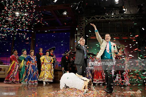 LENO Air Date Episode 3757 Pictured Host Jay Leno and Ross 'The Intern' Matthews celebrate Cinco de Mayo with dancers onstage May 5 2009