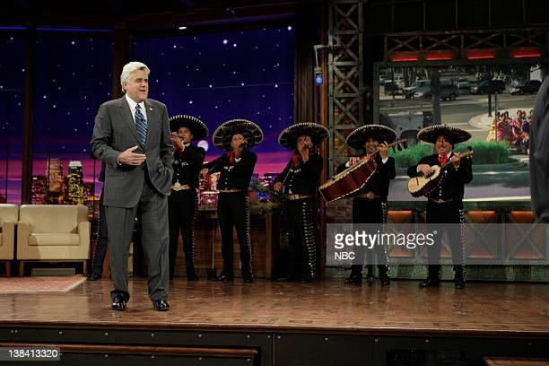 LENO Air Date Episode 3757 Pictured Host Jay Leno onstage with a mariachi band in celebration of Cinco de Mayo on May 5 2009