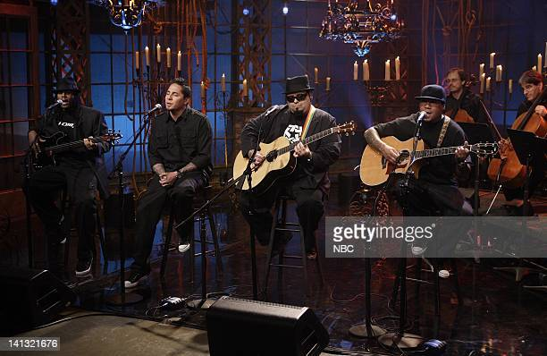 D Air Date Episode 3552 Pictured Musical guest POD performs on May 7 2008 Photo by Paul Drinkwater/NBCU Photo Bank
