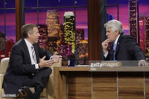 LENO Air Date Episode 3770 Pictured NBC News anchor Brian Williams during an interview with host Jay Leno on May 22 2009 Photo by Margaret...