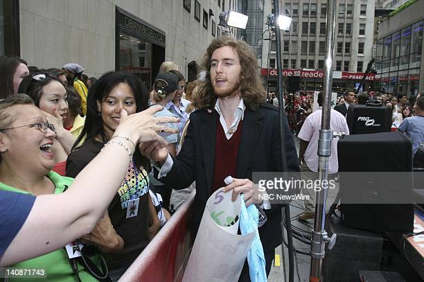 Keyboardists and vocalist Jesse Carmichael of musical guest Maroon 5 signs autographs on NBC News' Today on May 29 2007 Photo by Heidi Gutmann/NBC...