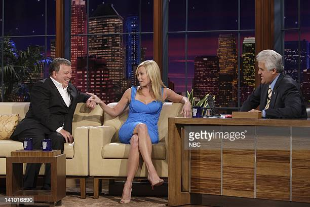Air Date -- Episode 3565 -- Pictured: Actor William Shatner and television personality Chelsea Handler during an interview with host Jay Leno on June...