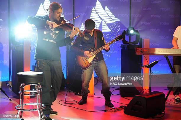 "Air Date -- Pictured: David Garrett -- Violinist David Garrett performs ""Smooth Criminal"" in NBC News' studio"