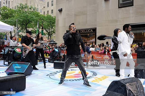 Air Date -- Pictured: Fergie, apl.de.ap, will.i.am -- Musical guest The Black Eyed Peas perform as a part of the Summer Concert Series on June 11,...