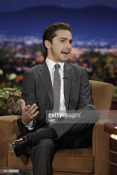 BRIEN Air Date Episode 15 Pictured Actor Shia Labeouf during an interview on June 19 2009 Photo by Paul Drinkwater/NBCU Photo Bank