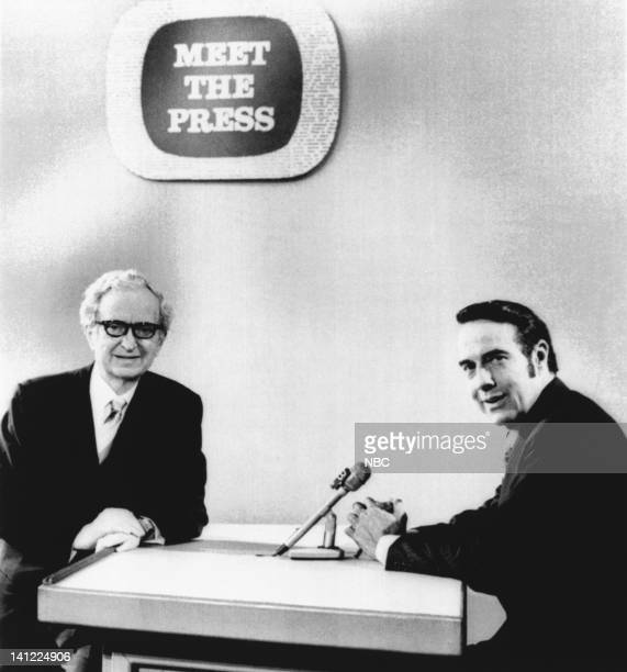Moderator Lawrence E Spivak Senator/Chairman of the Republican National Committee Bob Dole during an interview regarding the breakin and bugging of...