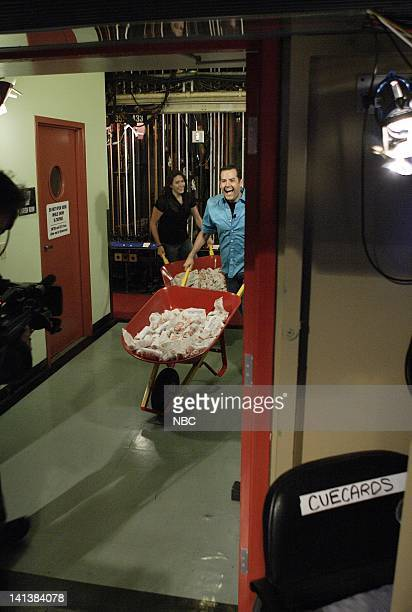 LENO Air Date Episode 3598 Pictured Ross 'The Intern' Matthews arrives with an audience member with hotdogs during the 'Wieners or Losers' segment on...