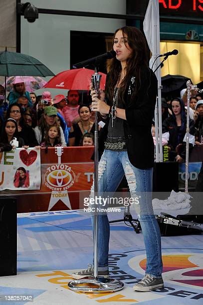Miley Cyrus performs live on Rockefeller Plaza as part of the Toyota Concert Series on 'Today'