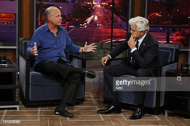 SHOW Air Date Episode 9 Pictured Political talk show host Rush Limbaugh during an interview with host Jay Leno on September 24 2009 Photo by Justin...