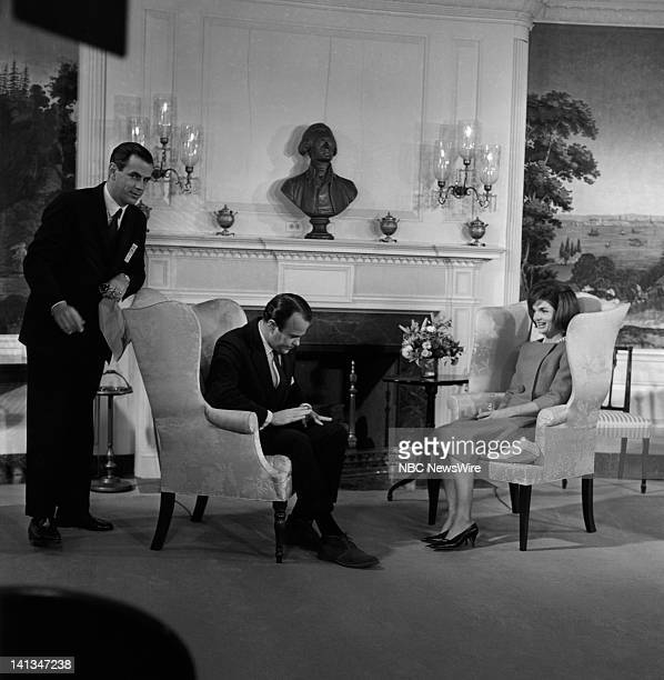 KENNEDY Air Date Pictured Unknown crew member NBC News' Sander Vanocur First Lady Jacqueline Kennedy discussing plans for the new National Culture...