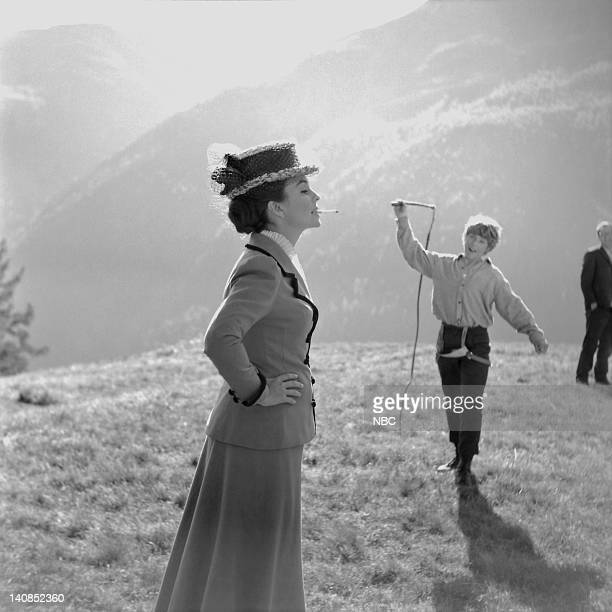 Actress Jean Simmons as Fraulein Rottenmeier and actor John Moulder Brown as Peter Photo by NBCU Photo Bank