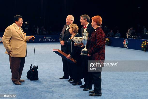 PURINA Air Date Pictured Gabriel Rangel Sadie Scottish Terrier Ch Roundtown Mercedes of Maryscot Sadie from the Terrier Group