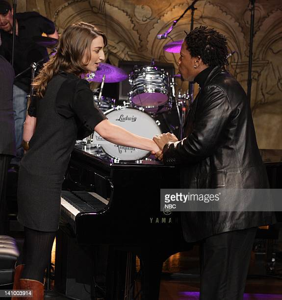 LENO Air Date 1/17/08 Episode 3478 Pictured Musical guest Sara Bareilles and comedian D L Hughley on January 17 2008 Photo by Margaret Norton/NBCU...