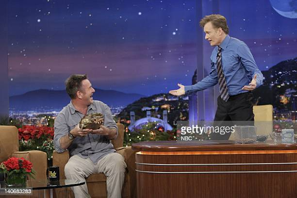 BRIEN Air Date Episode 128 Pictured Animal Expert Nigel Marven with a snapping turtle during an interview with host Conan O'Brien on December 18 2009...