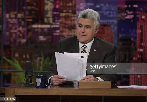LENO Air Date 2/5/08 Episode 3497 Pictured Host Jay Leno with an animal on February 13 2008 Photo by Paul Drinkwater/NBCU Photo Bank