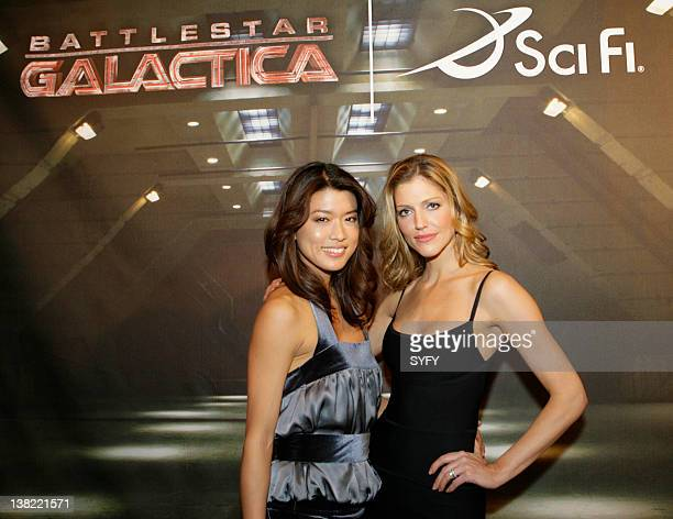 UPFRONT 2008 Air Date 3/18/08 Pictured Battlestar Galactica actresses Grace Park and Tricia Helfer at the SCI FI Channel Upfronts on March 18 2008
