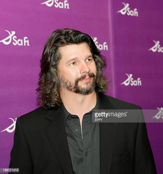 """Air Date 3/18/08 -- Pictured: """"Battlestar Galactica"""" Writer/Executive Producer Ronald D. Moore at the SCI FI Channel Upfronts on March 18, 2008"""