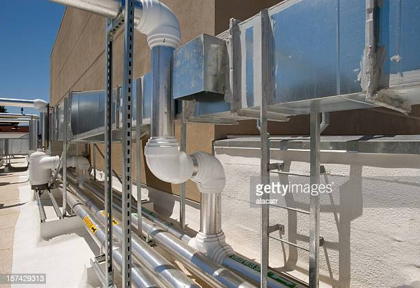 Air ducts and insulated pipes for HVAC