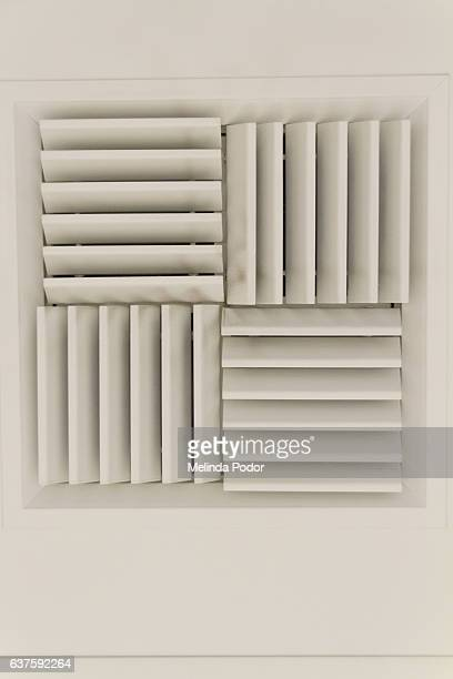 Air flow vents in a North American office