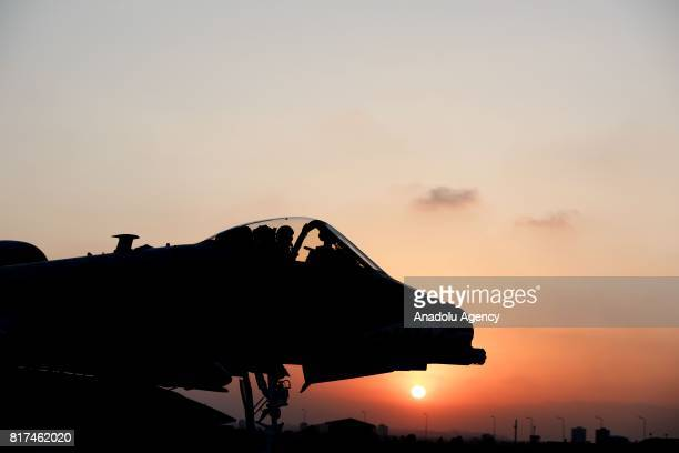 A US Air Force A10 Thunderbolt II is seen at Incirlik 39th Air Base Wing in Adana Turkey on July 18 2017 Three A10 Thunderbolt IIs were transported...