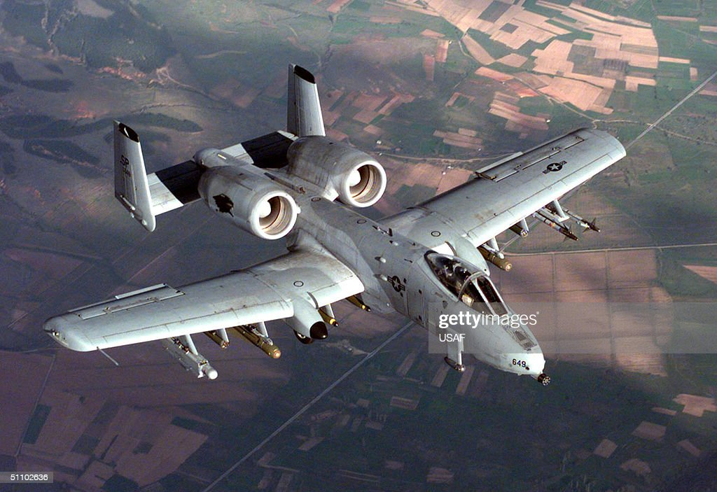 U S Air Force A 10A Warthog In Flight During A NATO Operation Allied Force Combat Mission : News Photo