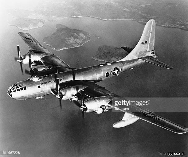 US Air Force B29 SuperFortress in flight