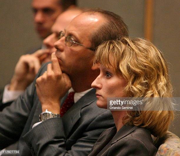 Air Force Capt Colleen Shipman right listens with her attorneys during the hearing for former NASA astronaut Lisa Nowak Friday August 24 at the...