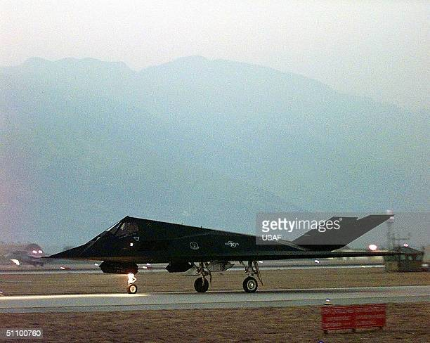 A US Air Force F117 Nighthawk Taxis Out For Take Off From Aviano Air Base Italy For An Air Strike Mission In Support Of Nato Operation Allied Force...