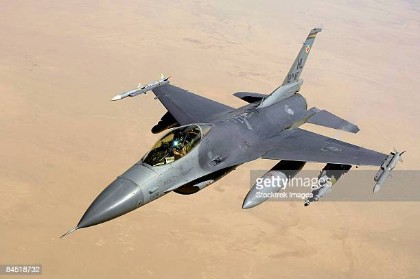 A U.S. Air Force F-16 Fighting Falcon in flight.
