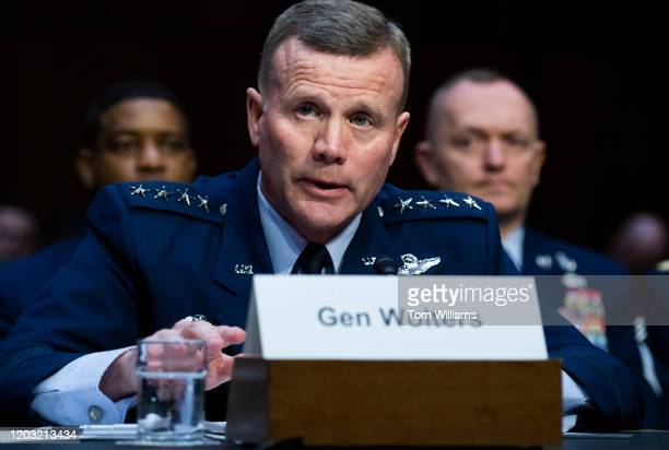 Air Force Gen. Tod D. Wolters, commander, U.S. European Command and NATO's Supreme Allied Commander Europe, and Army Gen. Stephen R. Lyons, off...