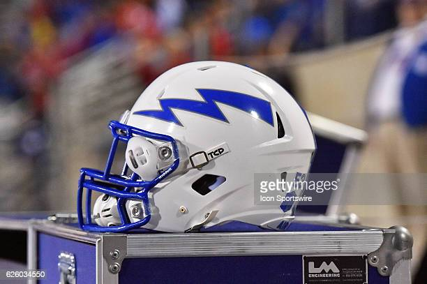 Air Force Helmet during the Fresno State Bulldogs and the Air Force Falcons NCAA football game The Falcons defeated the Bulldogs 3121 on October 28...