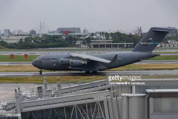 us air force in osaka international airport itami in japan - 大阪国際空港 ストックフォトと画像
