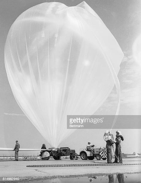 Air Force Launches Weather Balloon Denver Shaped like a monstrous onion this 12foot diameter clearcolored balloon is fueled at Lowry Air Force Base...