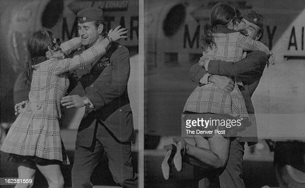 FEB 21 1973 Air Force Maj Hubert K Flesher Shouted 'Hello Baby' As he Greeted his Wife Sue At Travis Air Force Base Tuesday The United States has...