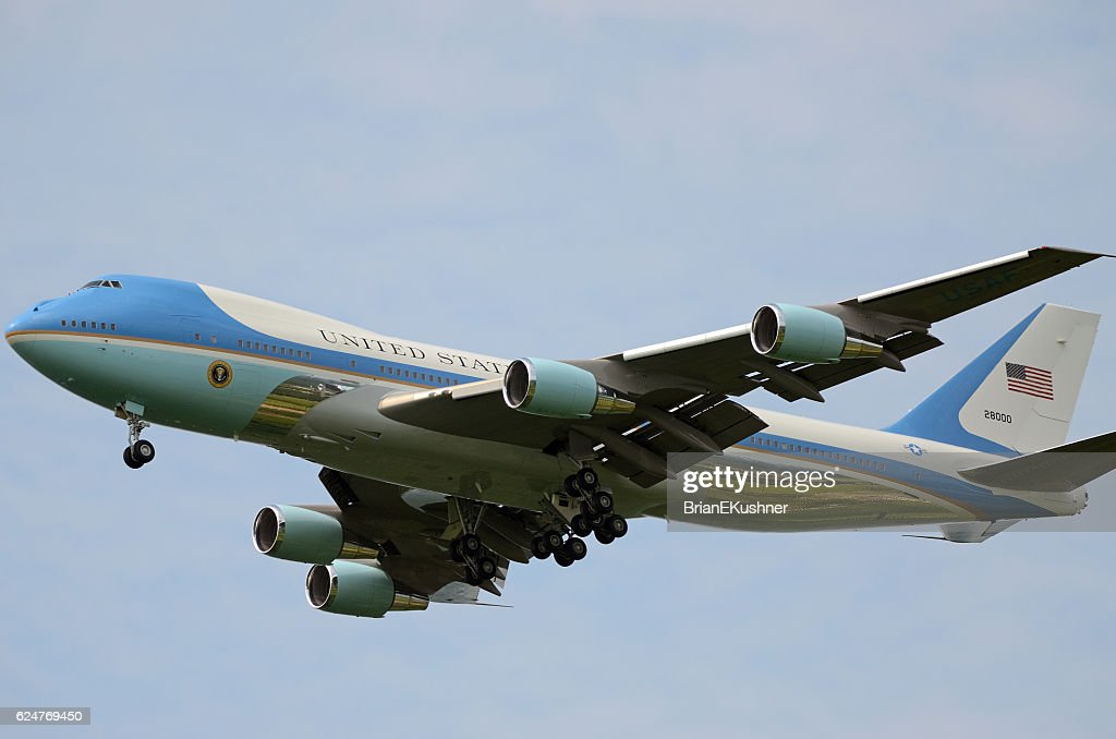 Air Force One in Flight : Stock Photo