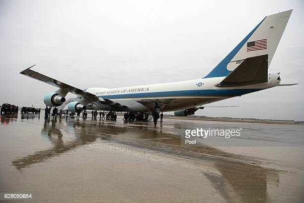 Air Force One is seen on the tarmac on December 6 2016 at Joint Base Andrews Maryland Presidentelect Donald Trump tweeted this morning that the...