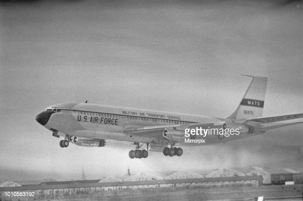 Air Force One taking off from Heathrow Airport at the end of President Eisenhower's state visit to the United Kingdom 2nd September 1959