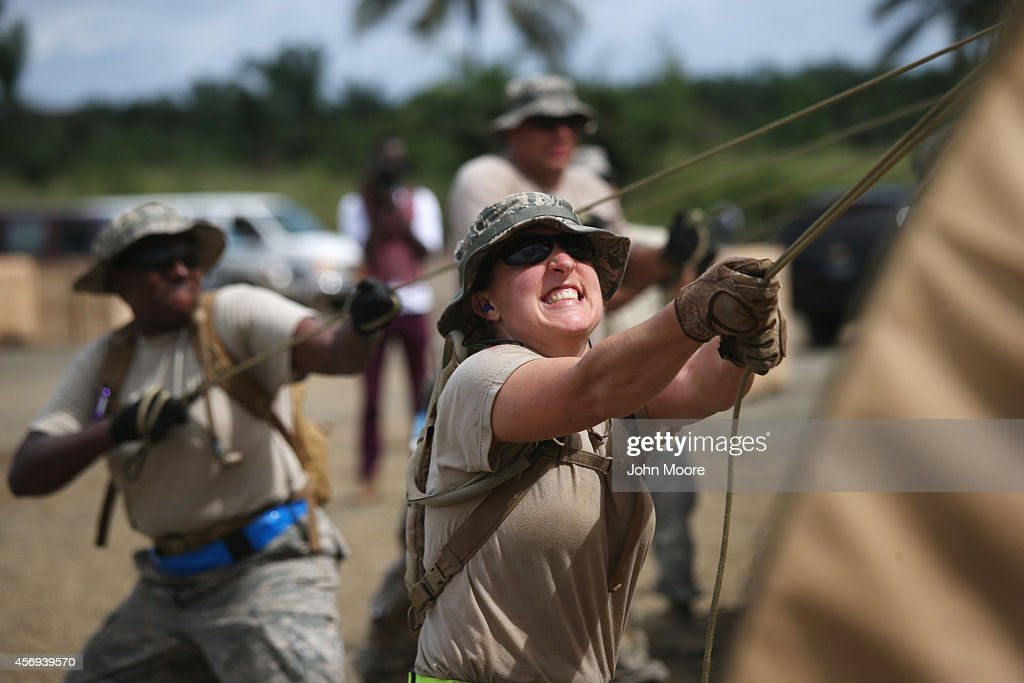 Liberia Races To Expand Ebola Treatment Facilities, As U.S. Troops Arrive : News Photo