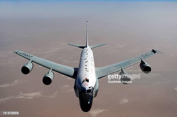 A U.S. Air Force RC-135V/W Rivet Joint reconnaissance aircraft.