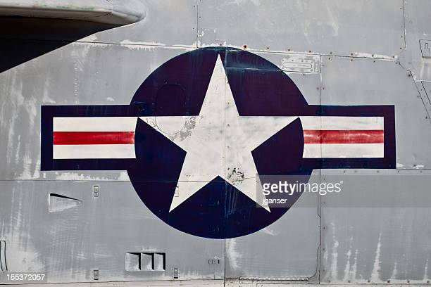 air force roundel - us military emblems stock pictures, royalty-free photos & images