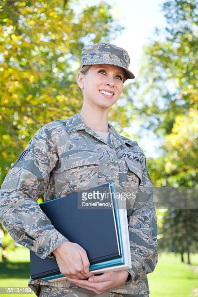 us air force series: american airwoman outdoor - us air force stock pictures, royalty-free photos & images