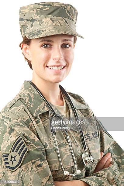 us air force series: american airwoman - military doctor stock photos and pictures