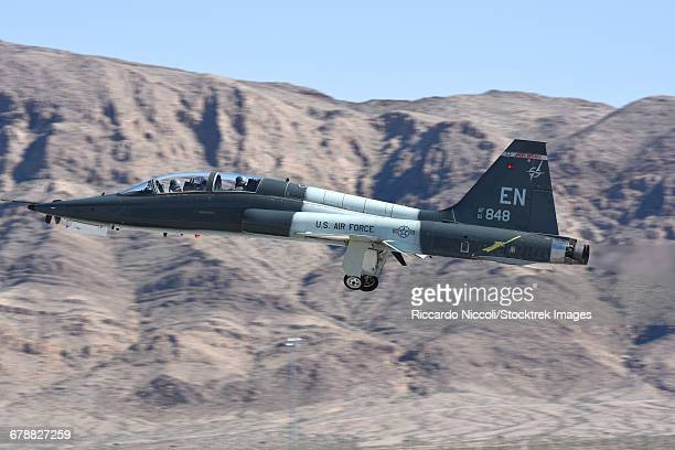 A U.S. Air Force T-38C taking off from Nellis Air Force Base, Nevada.