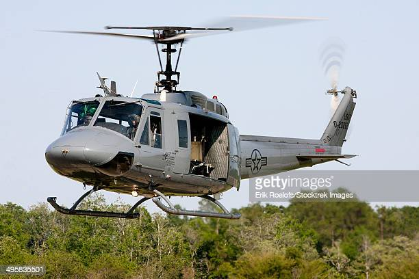 A U.S. Air Force TH-1H Huey II during a training sortie in Alabama.