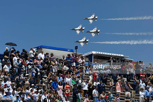 Air Force Thunderbirds perform at the United States Air Force Academy 58th graduation at Falcon Stadium June 02 2016